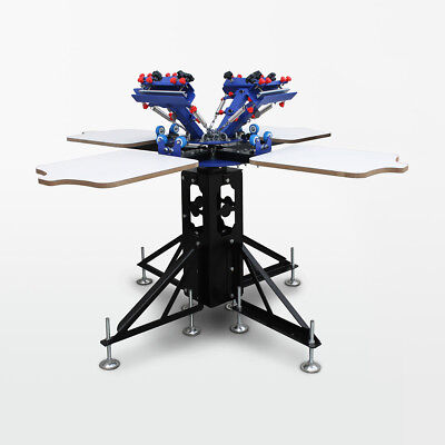 Screen printing carousel for four-colour ink machine Textile print
