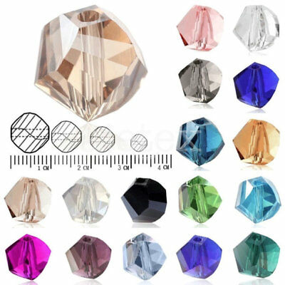 100Pcs Helix Crystal 6mm Glass Loose Spacer Beads DIY Fit Jewelry Making