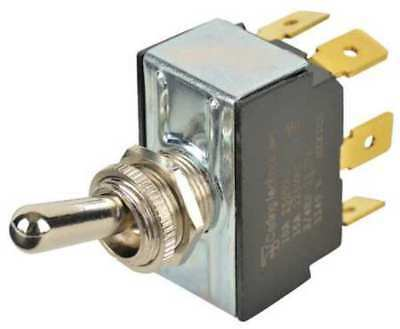 Toggle Switch,DPDT,10A @ 250V,QuikConnct CARLING TECHNOLOGIES 6GG5B-73