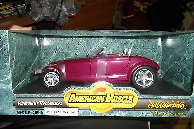 Plymouth Prowler Die-Cast Metal 1:18 American Muscle Collectors Edition NIB