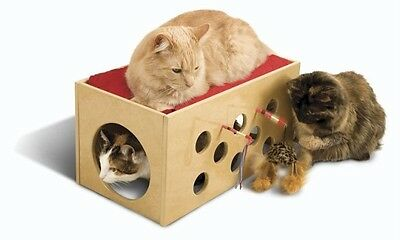 BOOTSIE'S WOOD BUNK BED & PLAYROOM FOR CATS PET FURNITURE PERCH with TOYS NEW!