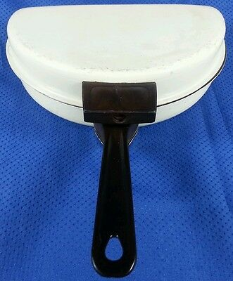 "Vintage MIRRO Kitchen Pride 9"" Aluminum Non-Stick Foldable Egg Omelette Fry Pan"