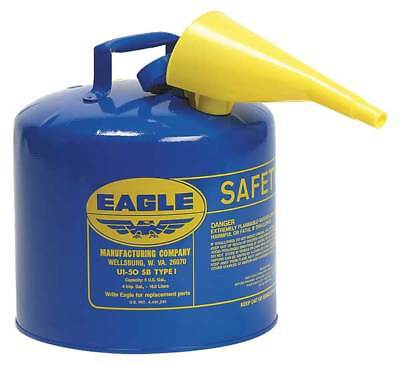 EAGLE UI-50-FSB Type I Safety Can, 5 gal, Blue