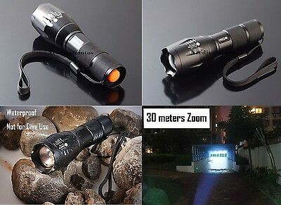 Cree LED 1800LM XM-L T6 Flashlight Torch Zoom Lamp 18650 Tactical 3A