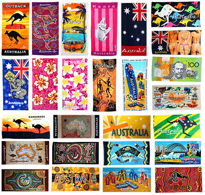 Australian Souvenir Beach Towels Australia 100% Cotton 15 designs