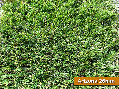 26mm Astro Artificial Grass Realistic Natural Green Lawn Garden Fake Turf