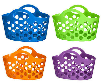 Flexible Multi Purpose Handy Peg Storage Basket With Carry Handle Small New