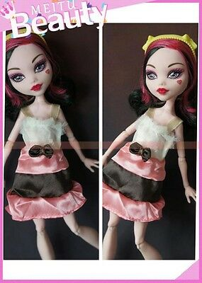 Fashion Lovely Nice Clothes Outfit Bowknot dress skirt FOR Monster High Doll H11