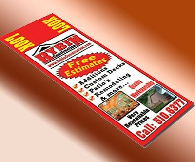 """1000  Full Color 2 Sided 4 1/4"""" x 11"""" or 4"""" x 11"""" Postcards16pt card stock UV"""