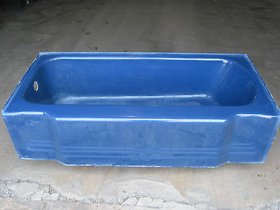 "Antique Vintage American Standard Pembroke Navy Blue Bathtub 66"" Bath Tub 1940's"