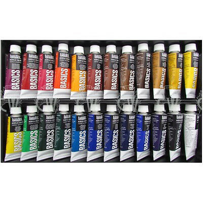 Liquitex Basics 24 Tube Box Set of 22ml Artists Acrylic Paints