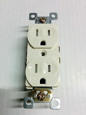 100 pc 15A Standard Duplex Receptacles 15 Amp Tamper Resistant TR Outlets ALMOND