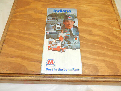 c1980 INDIANA MARATHON Gasoline Company Folded Road Map