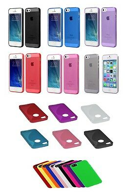Slim TPU Clear Silicone Gel Rubber Soft Skin Case Cover For iPhone 5/5s 5 SE