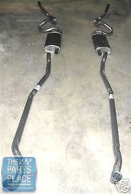 1970-71 Pontiac GTO / LeMans Dual Exhaust Complete Without Ram Air - Aluminized