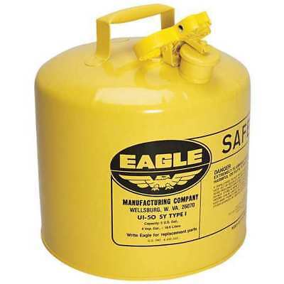 EAGLE UI-50-SY Type I Safety Can, 5 gal, Yellow, 13.5In H