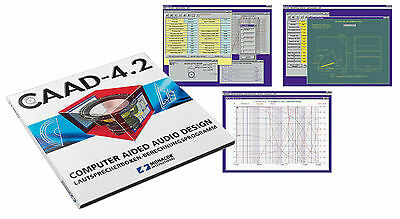 Loudspeaker Design & Crossover Calculator Software CD  -  Monacor CAAD 4.2   NEW