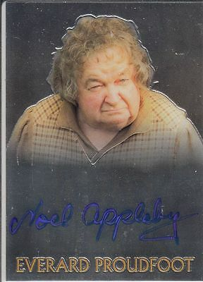 Lord of the Rings Topps Chrome Trilogy: Noel Appleby (Proudfoot) autograph