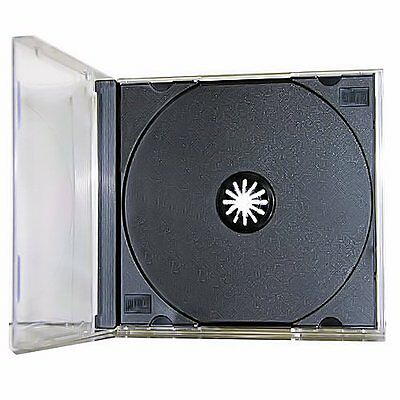 5 Pack Single Standard Black CD DVD Jewel Case Assembled 10.2mm [FREE SHIPPING]