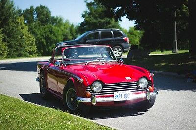 Triumph : Other TR250 Surrey Top 1968 tr 250 surrey top with triple webers