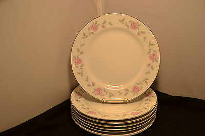 """Royal Cameo Eleanor Pattern,Pink Rose&Gray Leaf Band #3525,Dinner Plate(10"""")"""