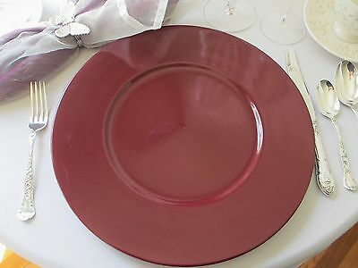 """MIKASA """"COLOR SPECTRUM"""" BURGUNDY ~ CA103 ~ DINNER / CHARGER / CHOP PLATE(S)"""
