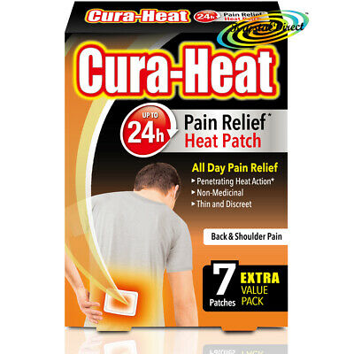 Cura Heat Air Activated Back & Shoulder 24H Pain Relief Heat Pads 7