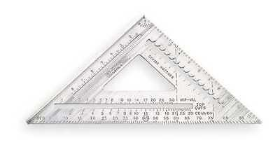 "Rafter Angle Square, 12"",Milled Aluminum, Johnson, RAS120"