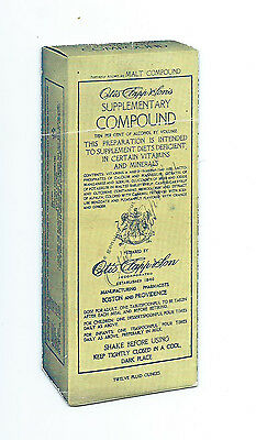 BLOTTER -Otis Clapp & Son's - Boston -Supplementary Vitamins Compound circa 1935
