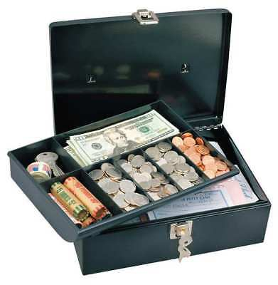 MASTER LOCK 7113D Cash Box, Black, 7-3/4x11x4