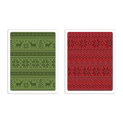 Sizzix Texture Fades Embossing Folders - 660043 Holiday Knit Set by Tim Holtz