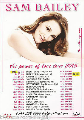 Event Promo Flyer: Sam Bailey - The Power Of Love UK Tour 2015