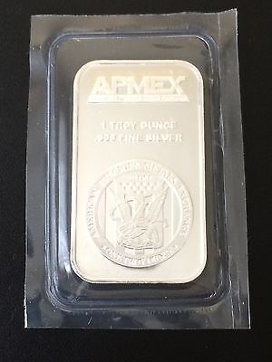 1 oz APMEX Silver Bar, .999 Fine, 1 Troy Ounce