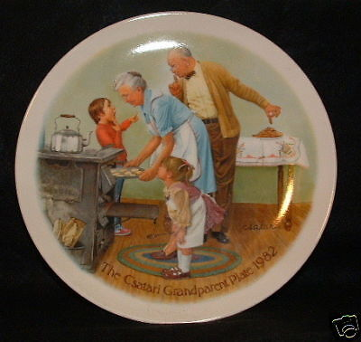 Collector Plate by Knowles: Csatari Grandparents 1982