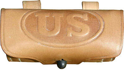 US M1904 Cavalry Leather Revolver Ammo Pouch
