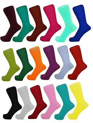 Men Cotton Rich Plain Design Ankle Socks One Size 6 -11