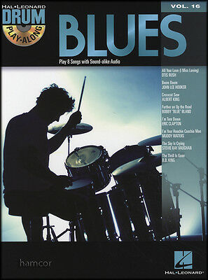 Blues Drum Play-Along Music Book/CD Hooker King Clapton Waters SRV Rush