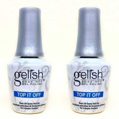Harmony Gelish Soak-Off -- 2 PC TOP IT OFF SEALER-Top Coat  0.5oz/15ml