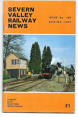 SEVERN VALLEY RAILWAY NEWS, Issue No. 106. Spring 1993.