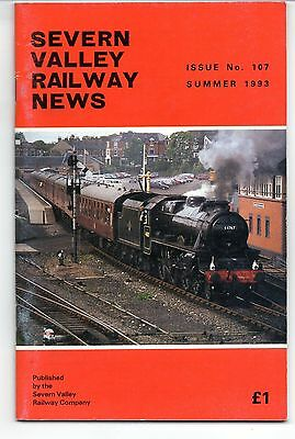 SEVERN VALLEY RAILWAY NEWS, Issue No. 107. Summer 1993.