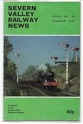 SEVERN VALLEY RAILWAY NEWS, Issue No. 84. Summer 1987.