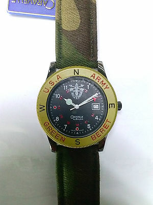 Orologio GREEN BERET Caravelle by BULOVA Suisse made Vintage anni 80