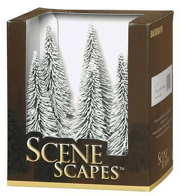 NEW Bachmann SceneScapes Pine Trees w/Snow 5-6  (6) 32002