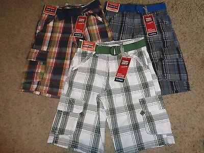 LOT OF 3 BOYS WRANGLER CARGO SHORTS SIZE 12 REGULAR ADJUSTABLE WAIST NEW NWT!!