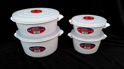 2 x 2L Microwave Heating Food Cooking Pot Container with Ventilated Lid New