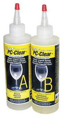 PC PRODUCTS 070161 Epoxy Adhesive, Bottle, 16 oz., Clear, 1 hr.