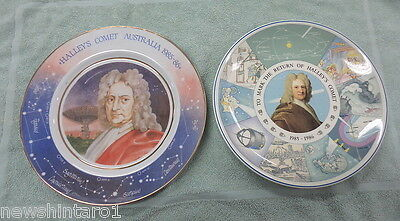 #ss. Two 1985/86 Halley's Comet China Collector Plates