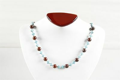 Vintage Natural Brecciated Jasper and Magnesite Necklace