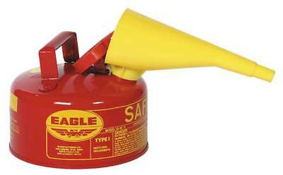 "Type I Safety Can,1 gal.,Red,10"" H,9"" OD EAGLE UI-10-FS"