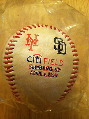 2013 New York Mets Vs San Diego Padres Opening Day Baseball 4/1/13 Mint Sold Out